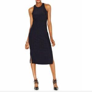 Bar III sheath ribbed black dress